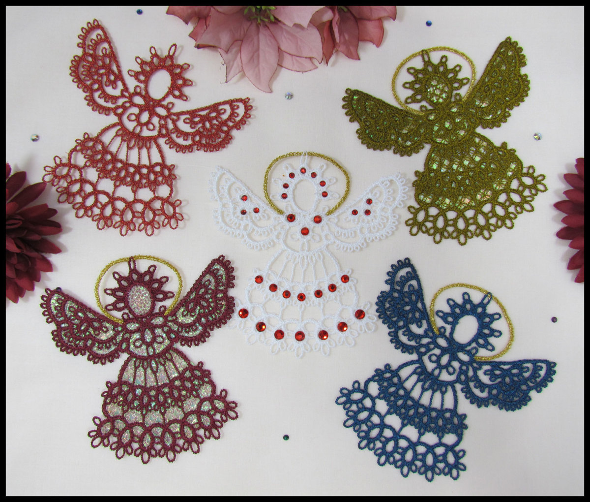 Angels Made by Tatting