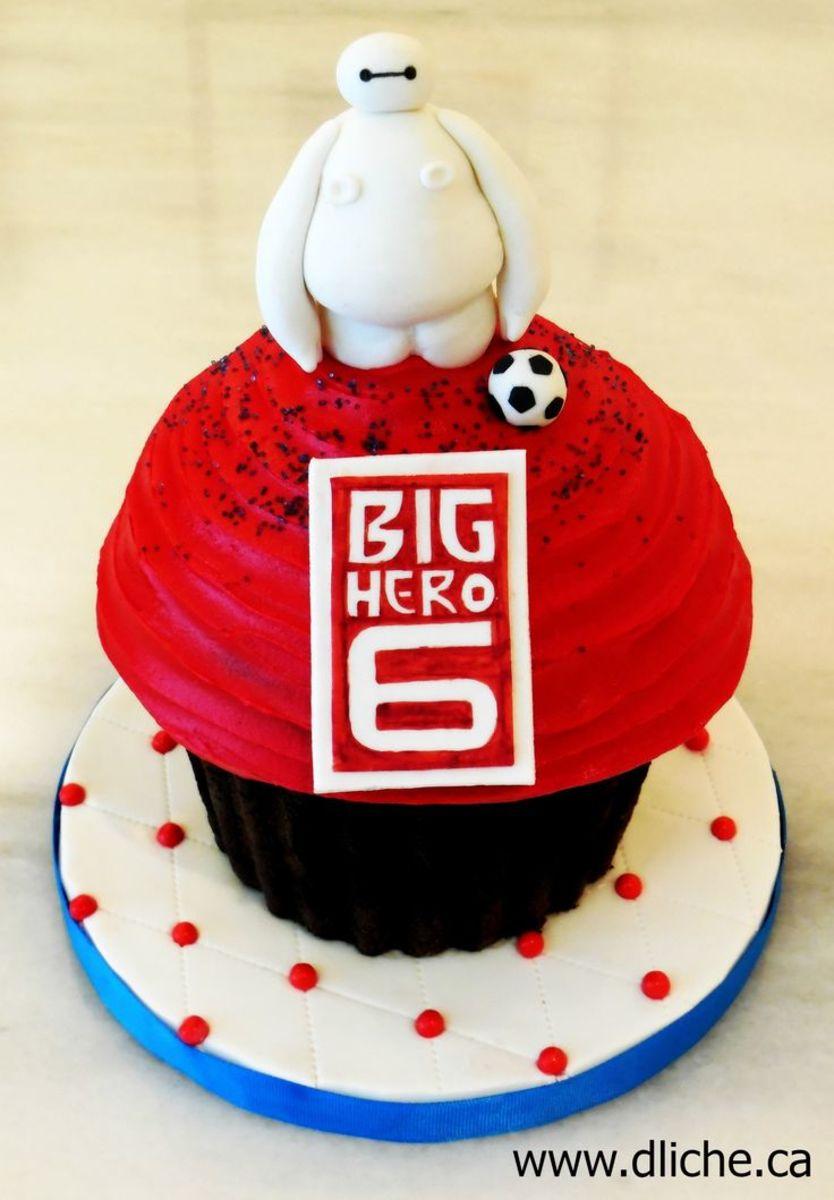 Red Velvet Baymax Cake