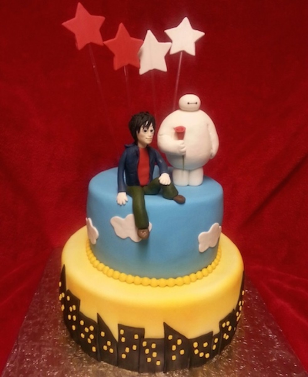 Big Hero 6 Chocolate Mousse Birthday Cake