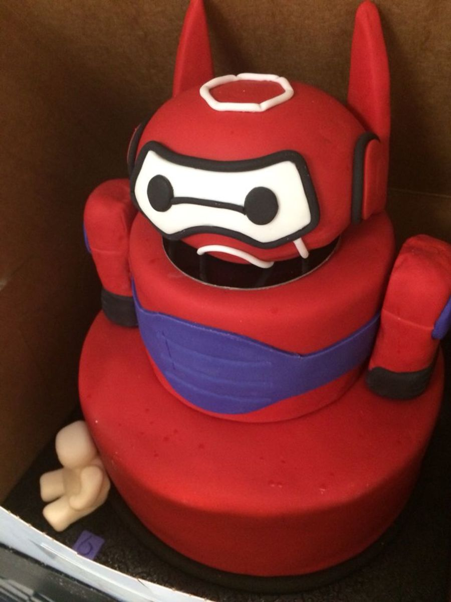 Baymax in Armor Birthday Cake