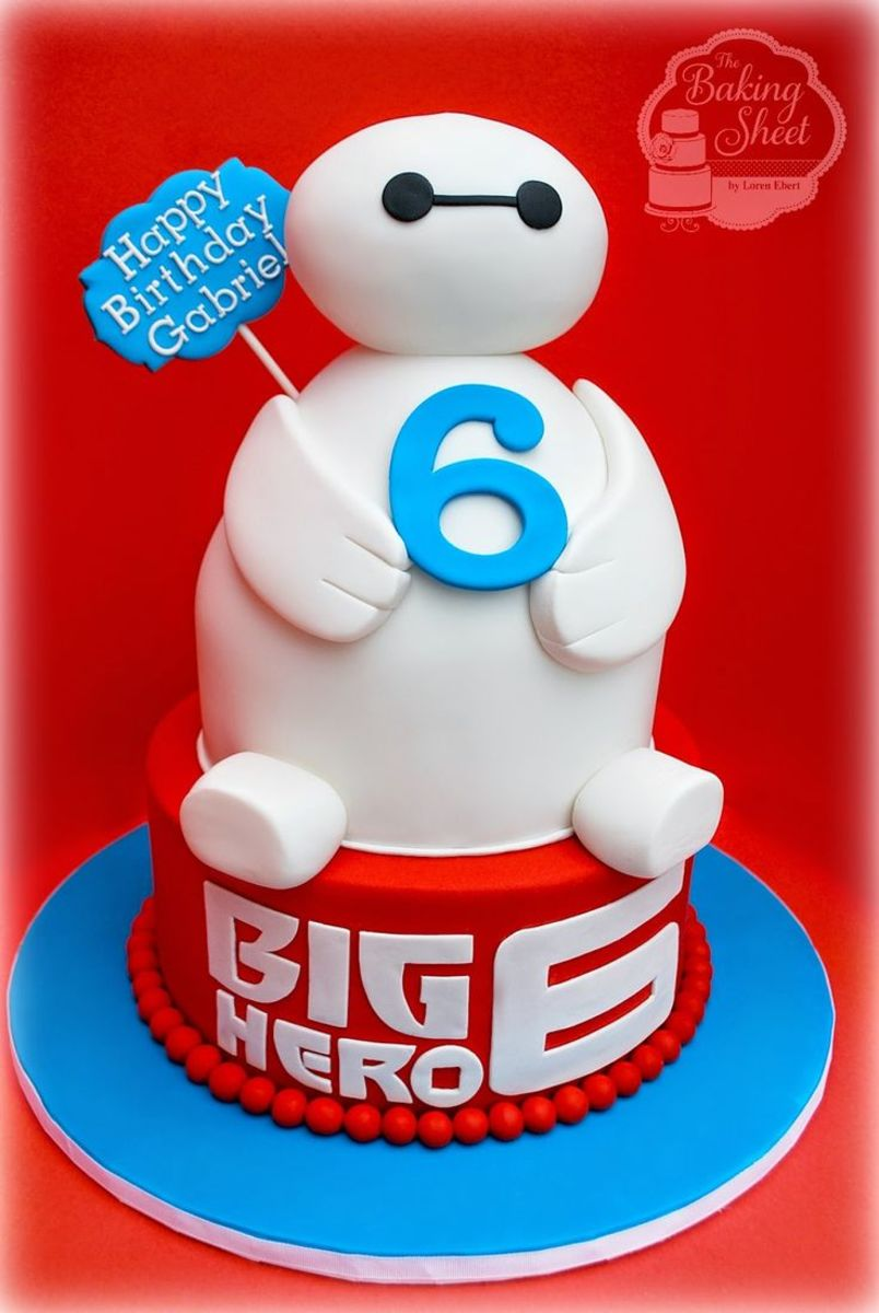 Baymax 6th Birthday Cake