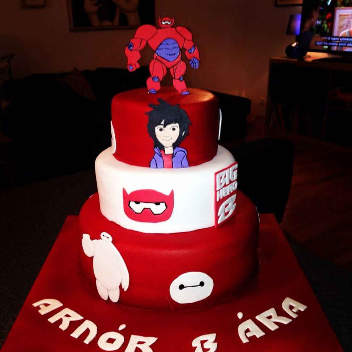 Big Hero 6 Birthday Cake in Tiers