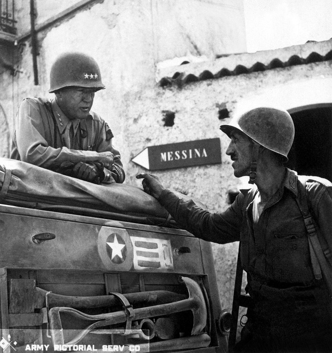 Patton in North Africa in 1942 after Operation Torch.
