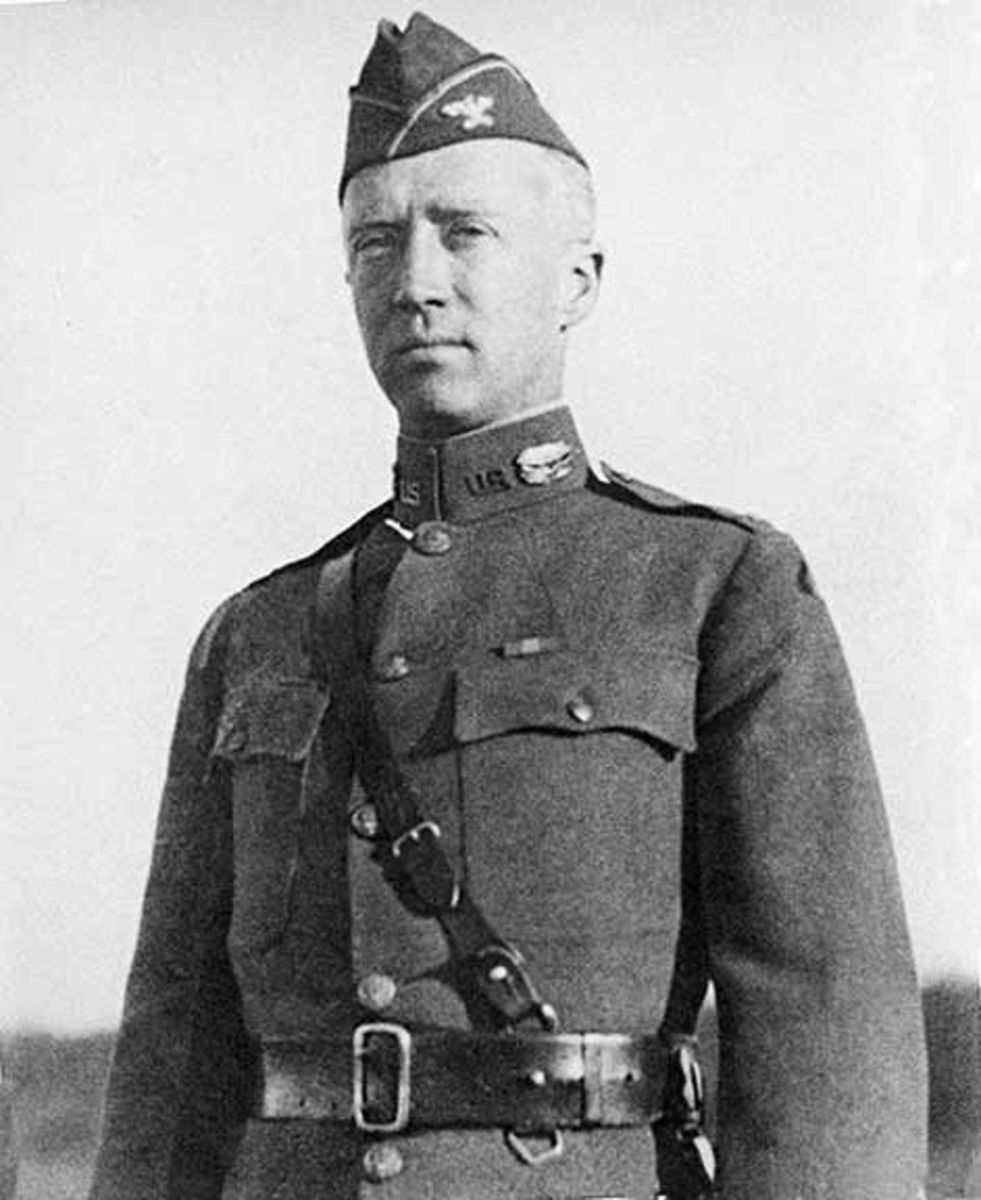 A young Patton in the First World War.
