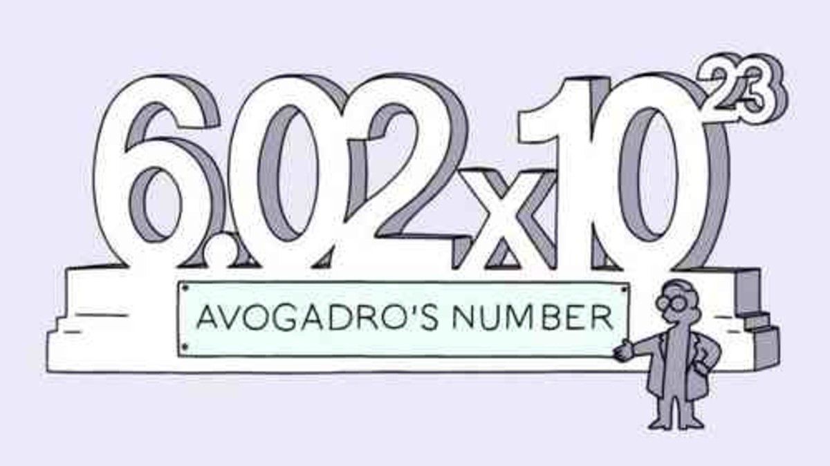 Known as the Avogadro constant,  which is one of the seven SI base units. It is the number of elementary entities (atoms, molecules, ions or other particles) in 1 mole of a substance.
