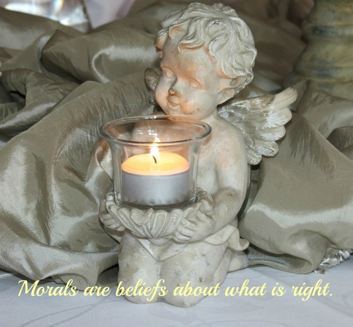 Morals are beliefs about what is right and good.