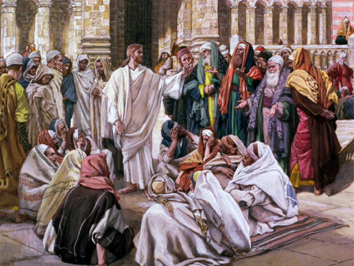 Jesus rebuked the Pharisees and teachers of the law