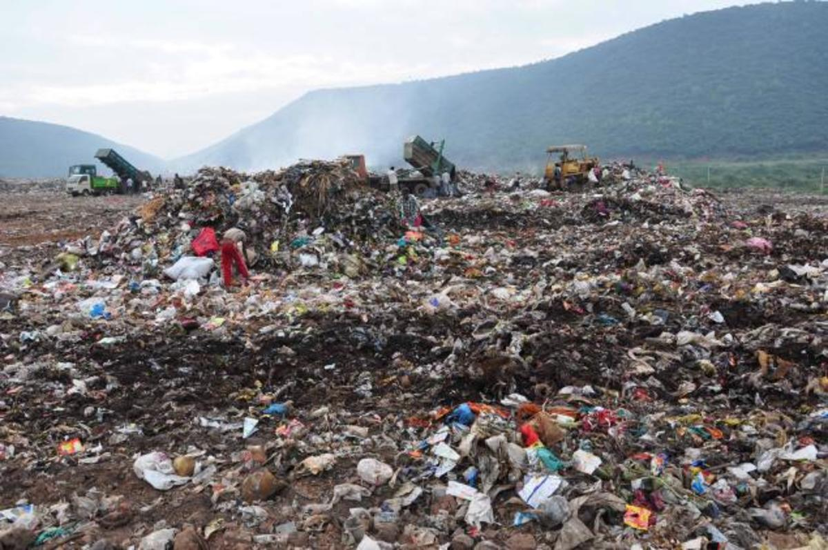 Garbage or waste caused pollution