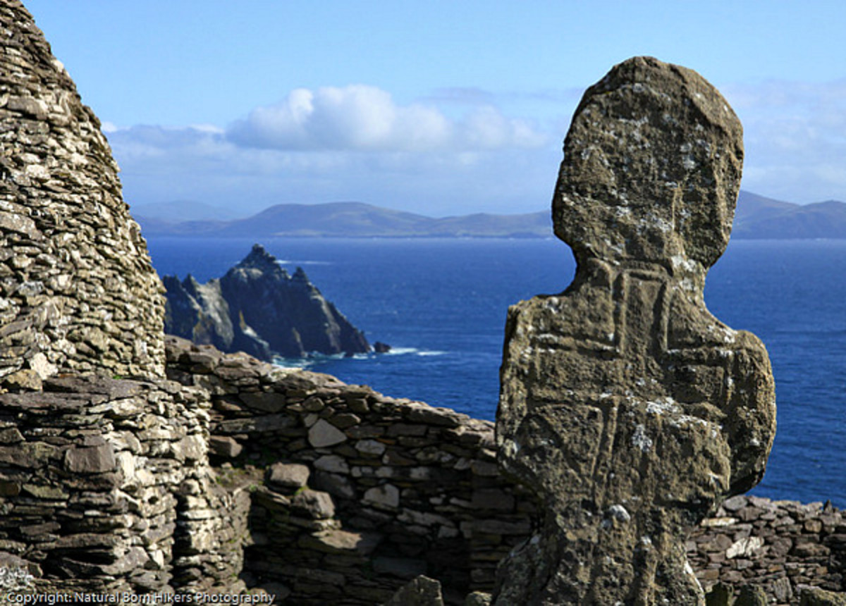 Skellig Michael Islands Celtic Cross