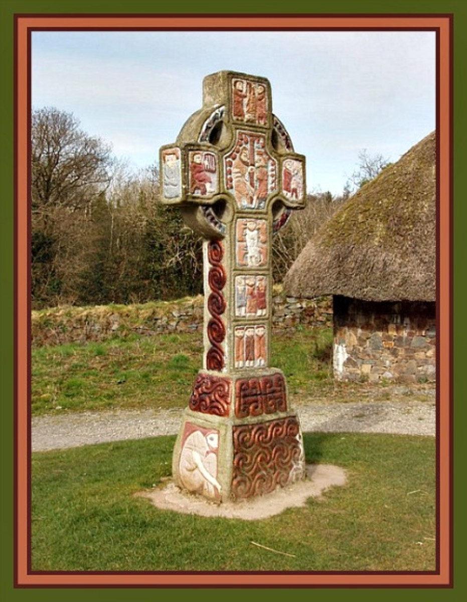 Celtic cross, Irish National Heritage Park