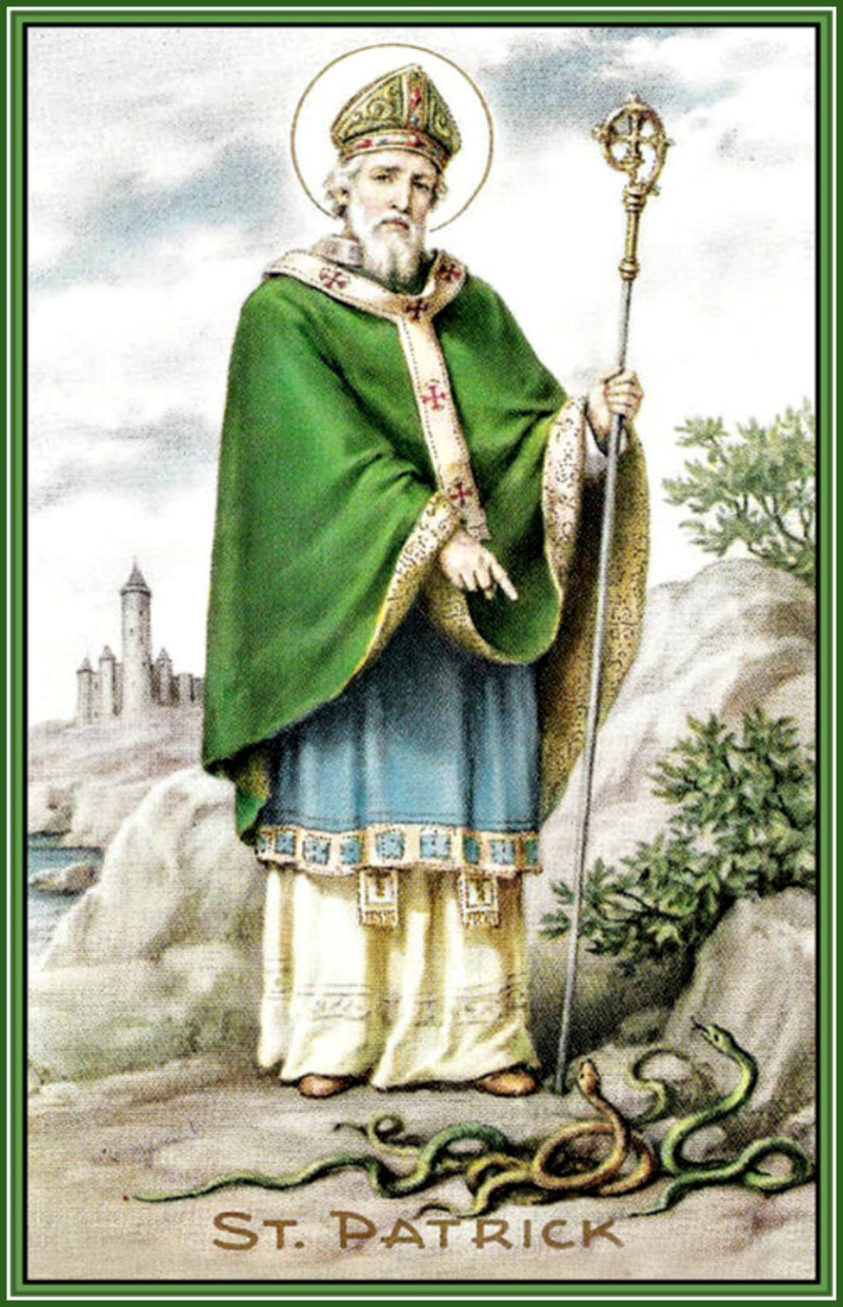 Vintage St. Patrick Driving Snakes from Ireland