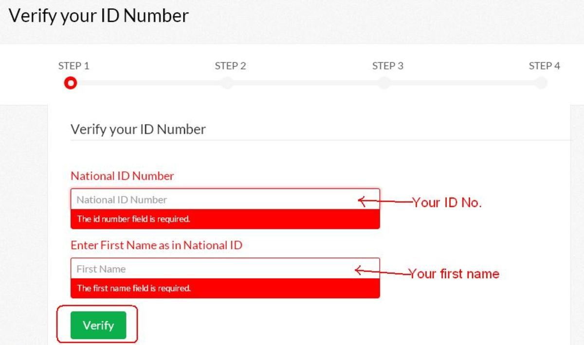 Verifying ID Number When Applying for Driving Licence Online