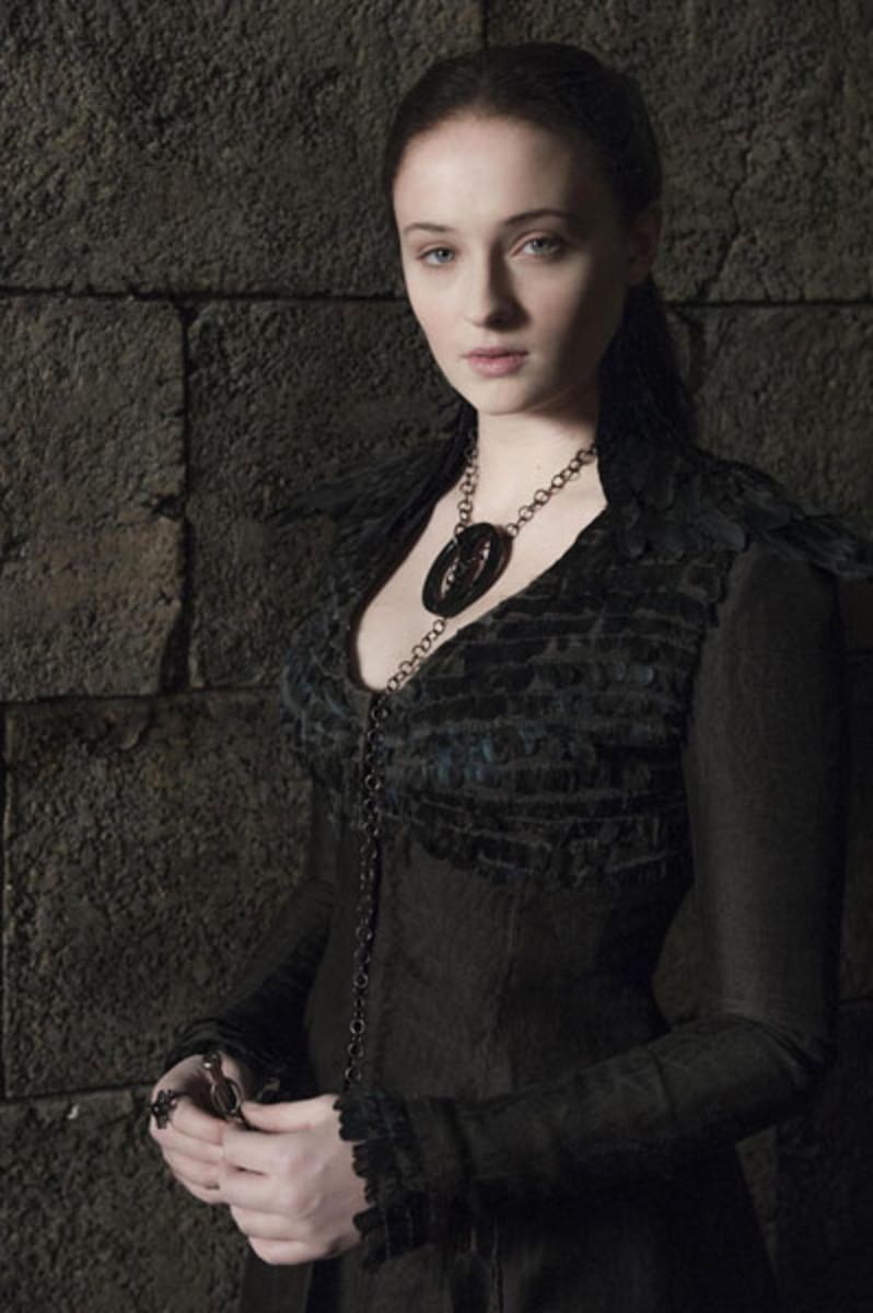 Sophie Turner as Sansa Stark a.k.a Alayne Stone