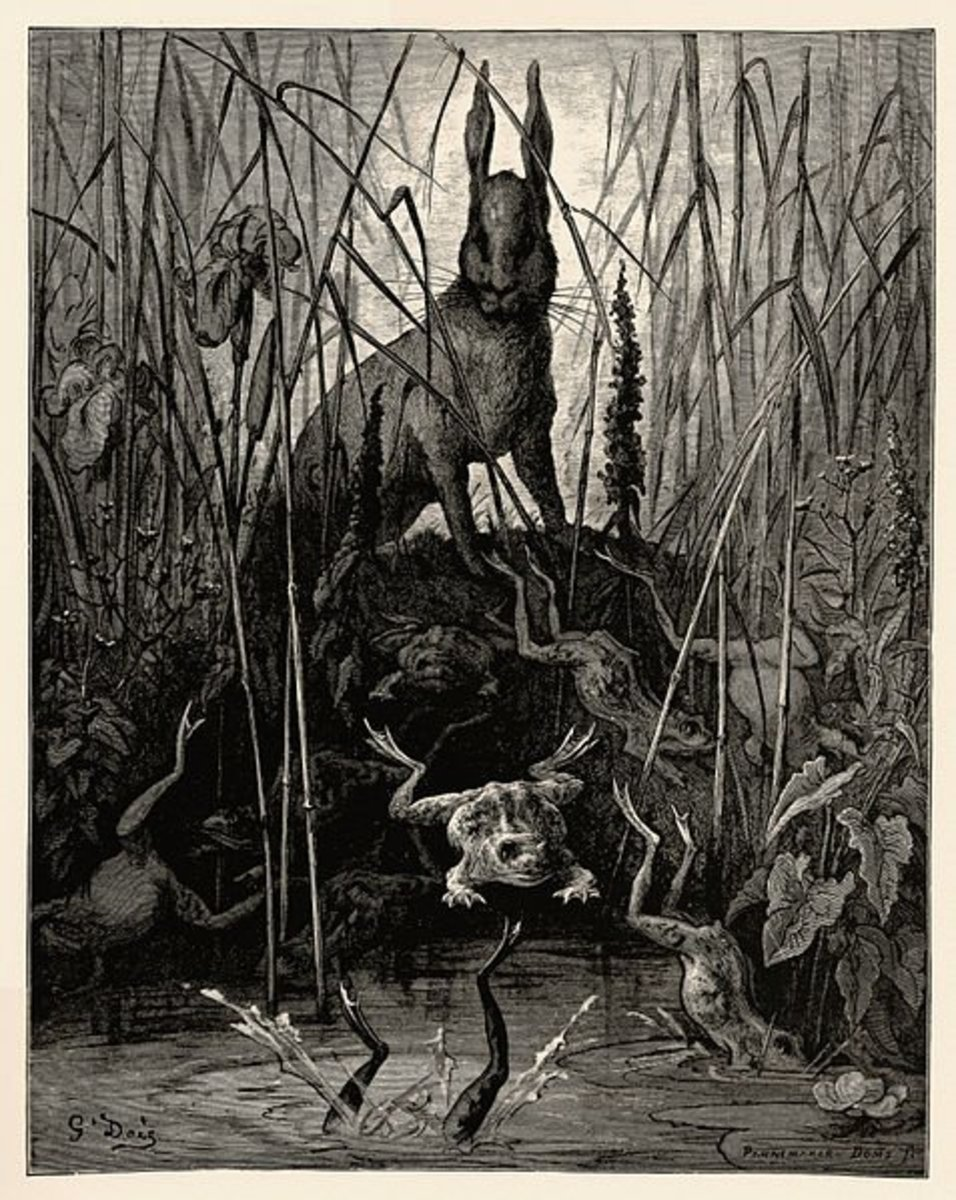 """The Hare and The Frogs"" by Gustave Doré"