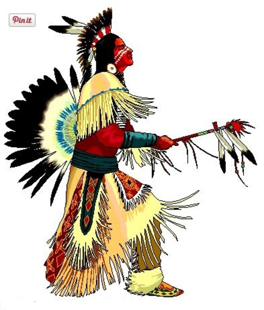 Free Native American Indian Dancer Clipart