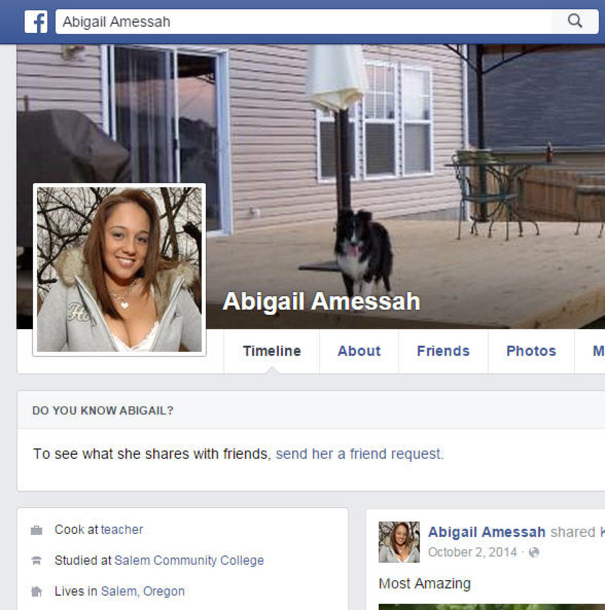 Another fake profile on Facebook
