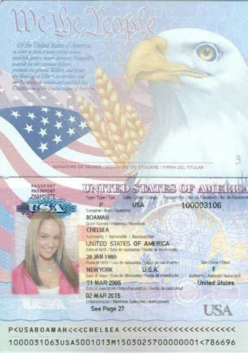 The first fake passport chelsea used. The photo is a young Nikki Sims, this time.