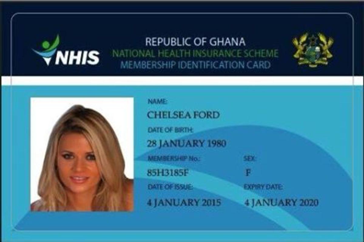Fake Ghana health card showing pic of Ann Angel