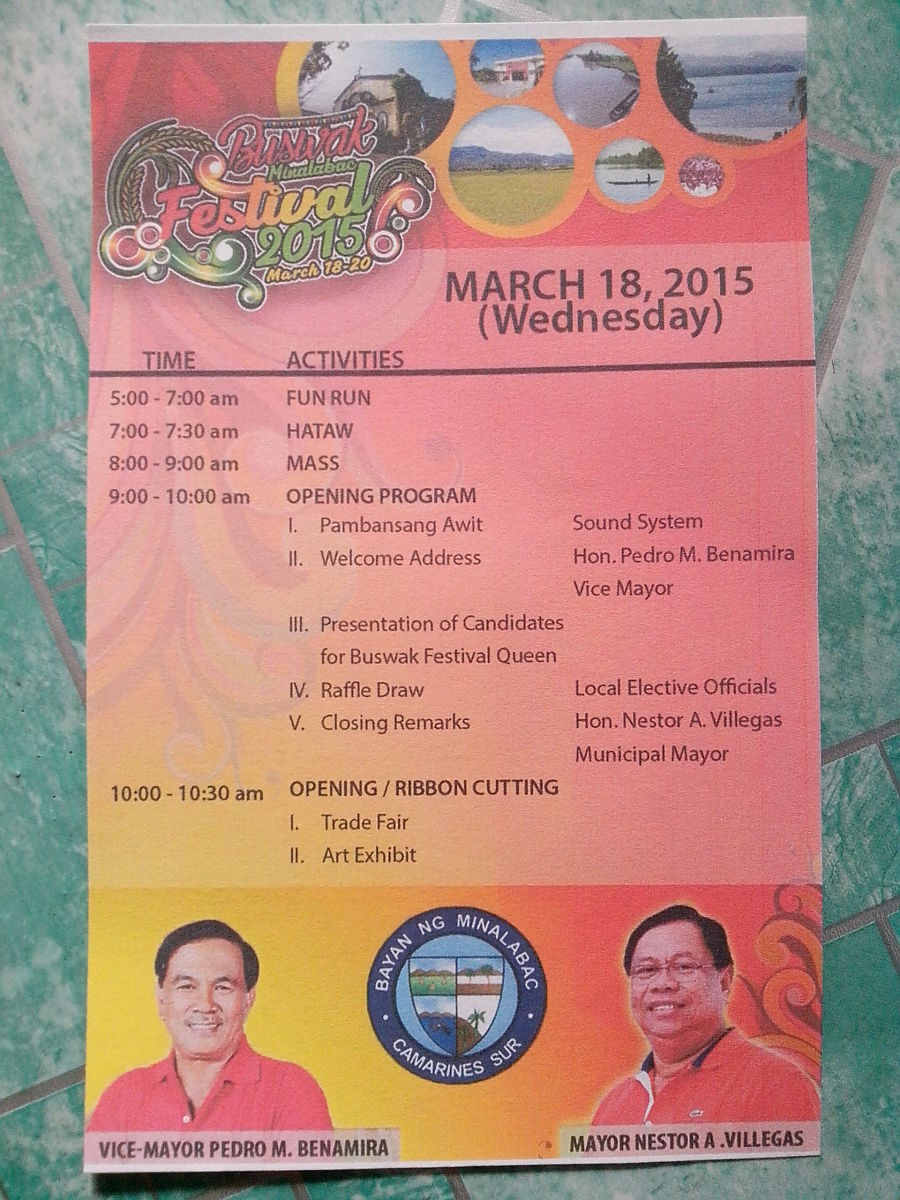 2nd Page-8th Buswak-Minalabac Program (Photo Source: Ireno A. Alcala)