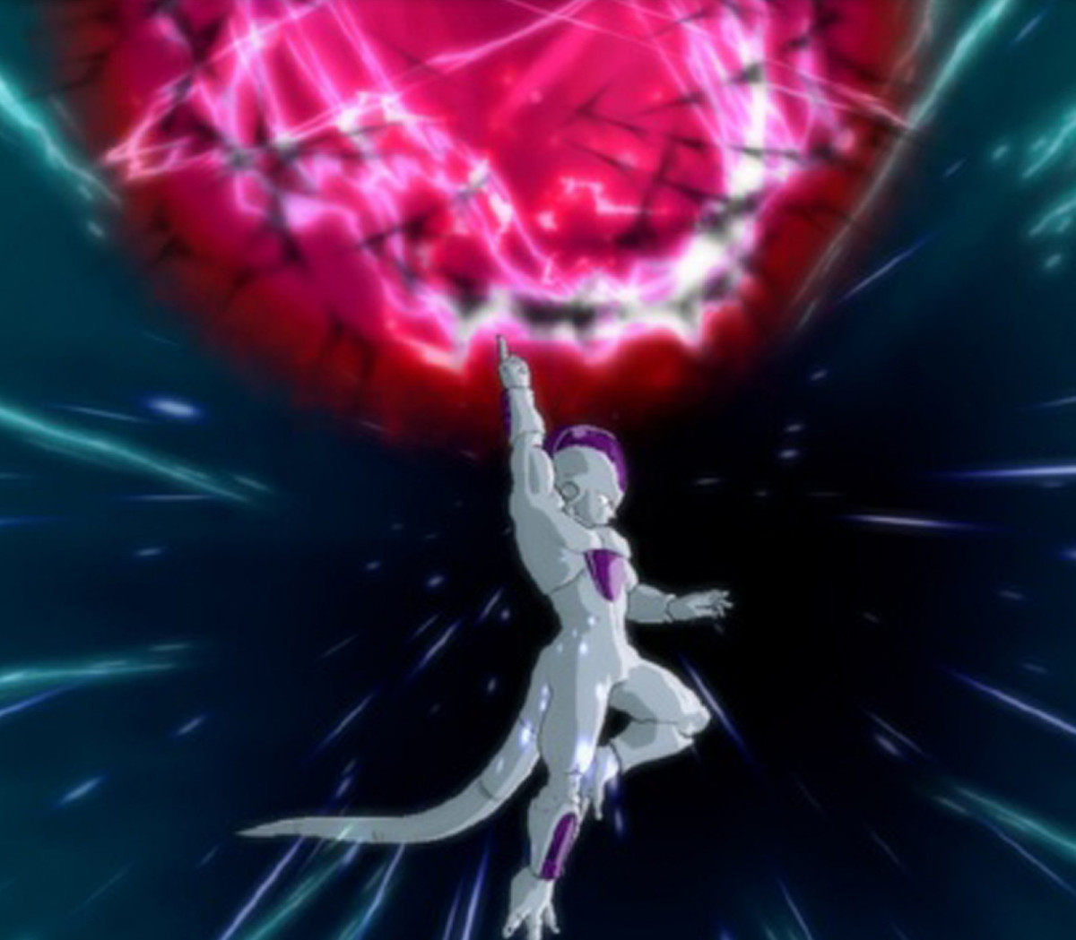 Frieza powers up a Death Ball