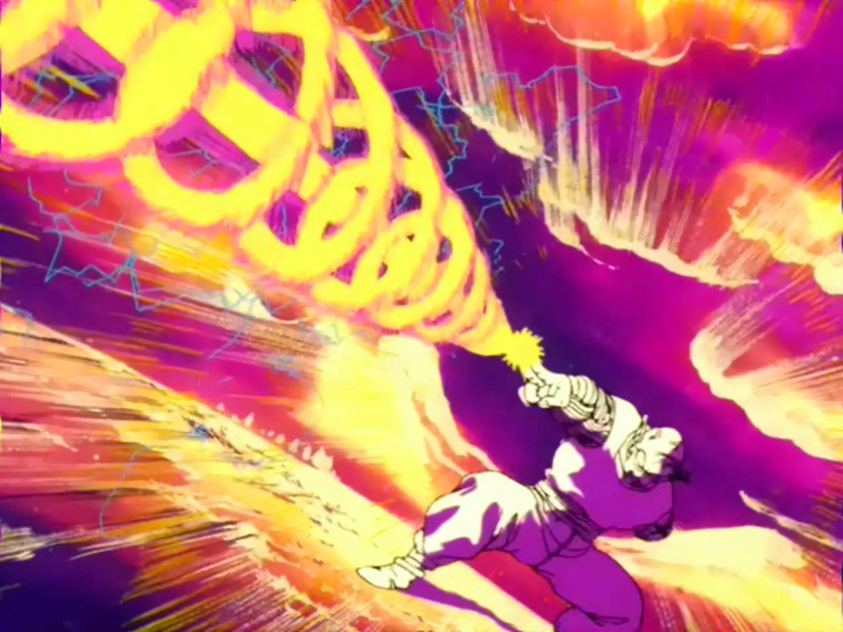 Piccolo shoots a Special Beam Cannon