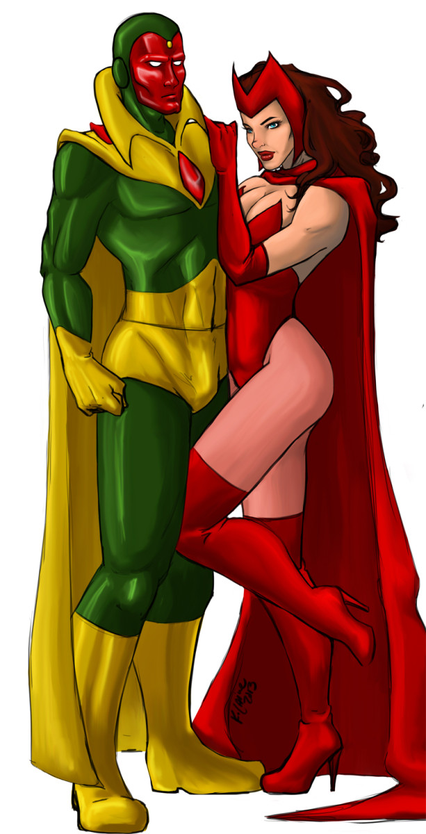 Husband and Wife, The Vision and Scarlet Witch