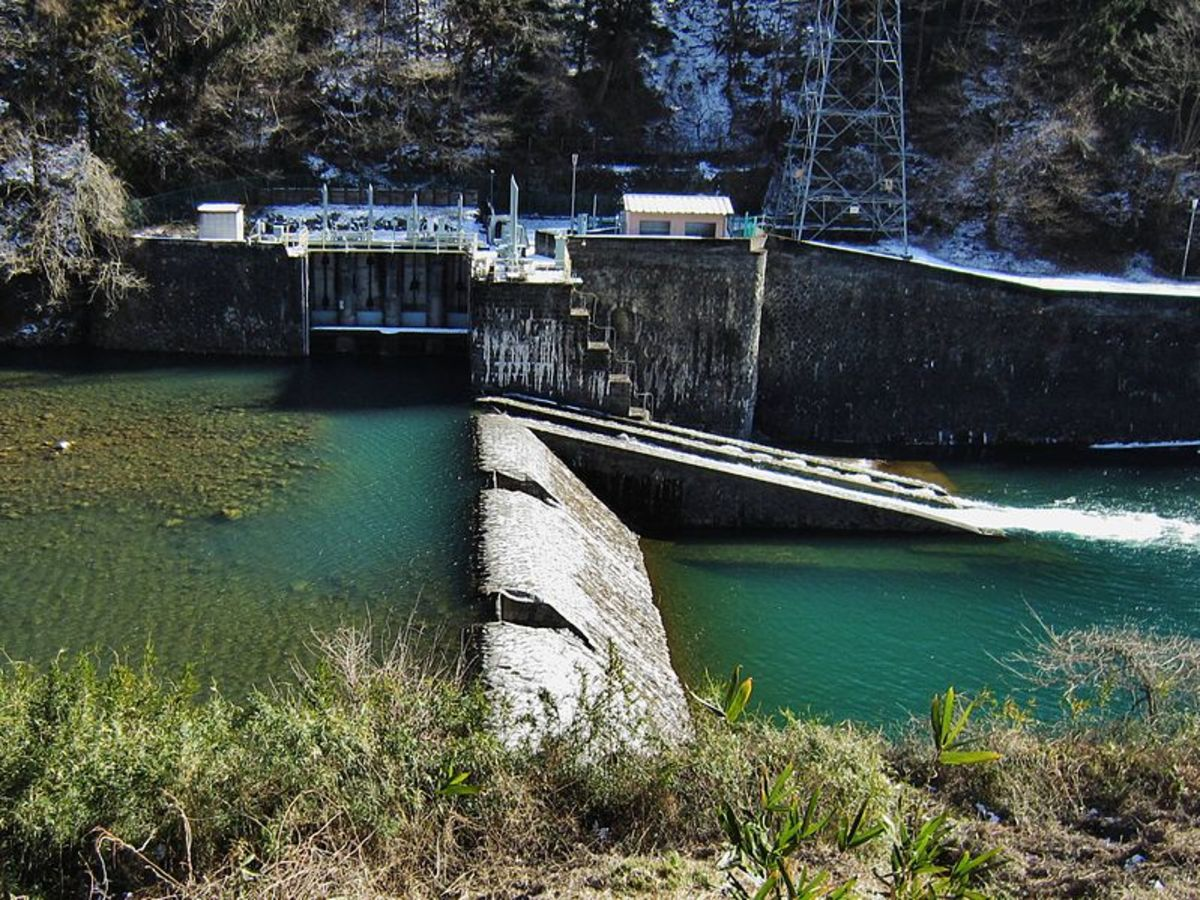A hydroelectric power station