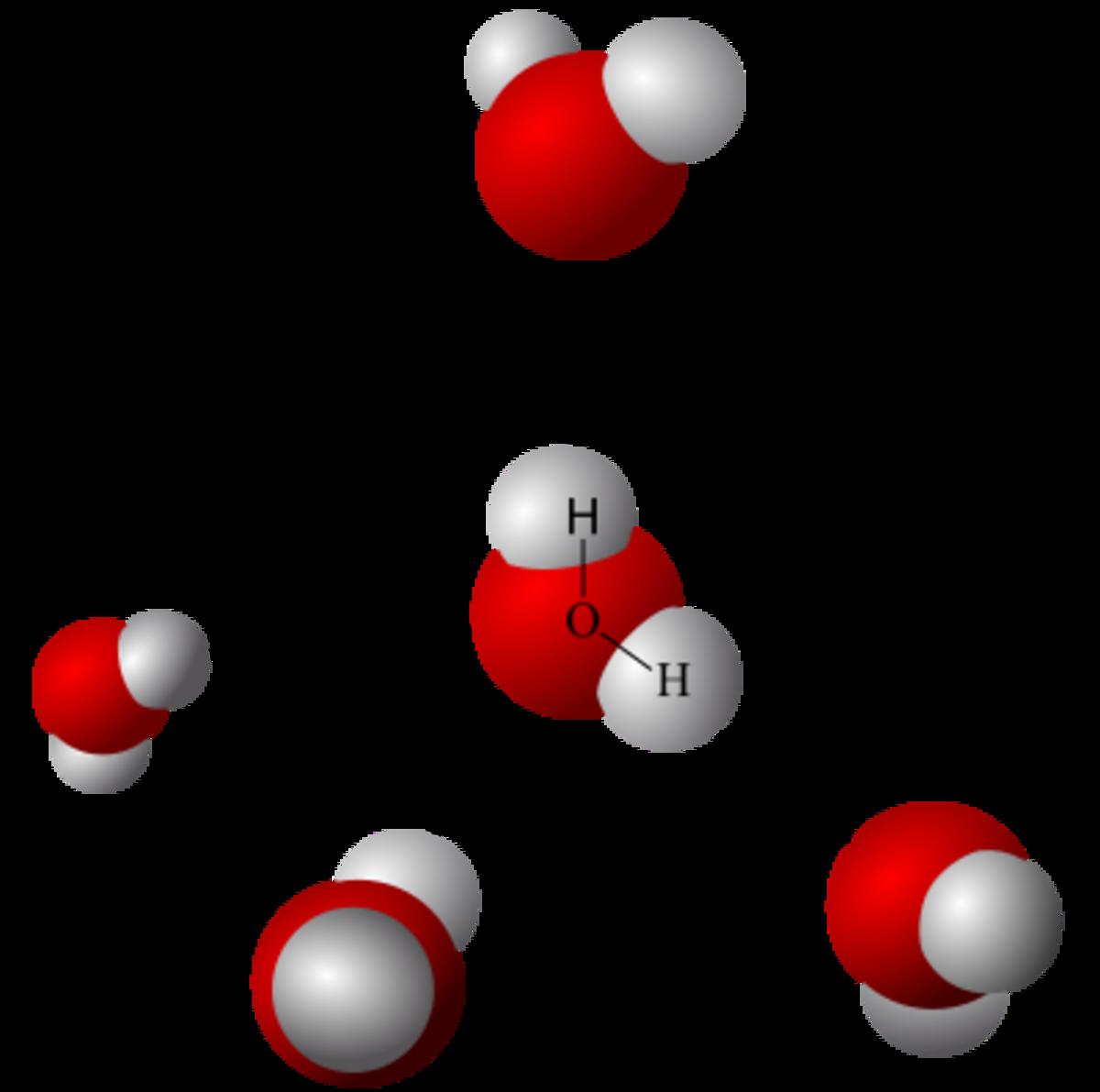 Model of hydrogen bonds in water