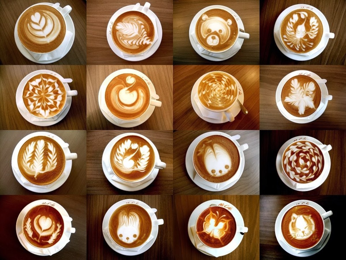 Detailed latte art
