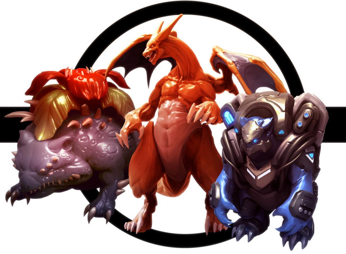 Venasaur, Charizard, and Blastoise