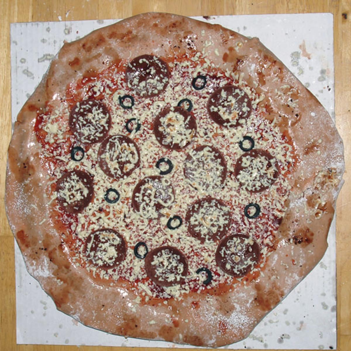 Fondant decorated pizza cake