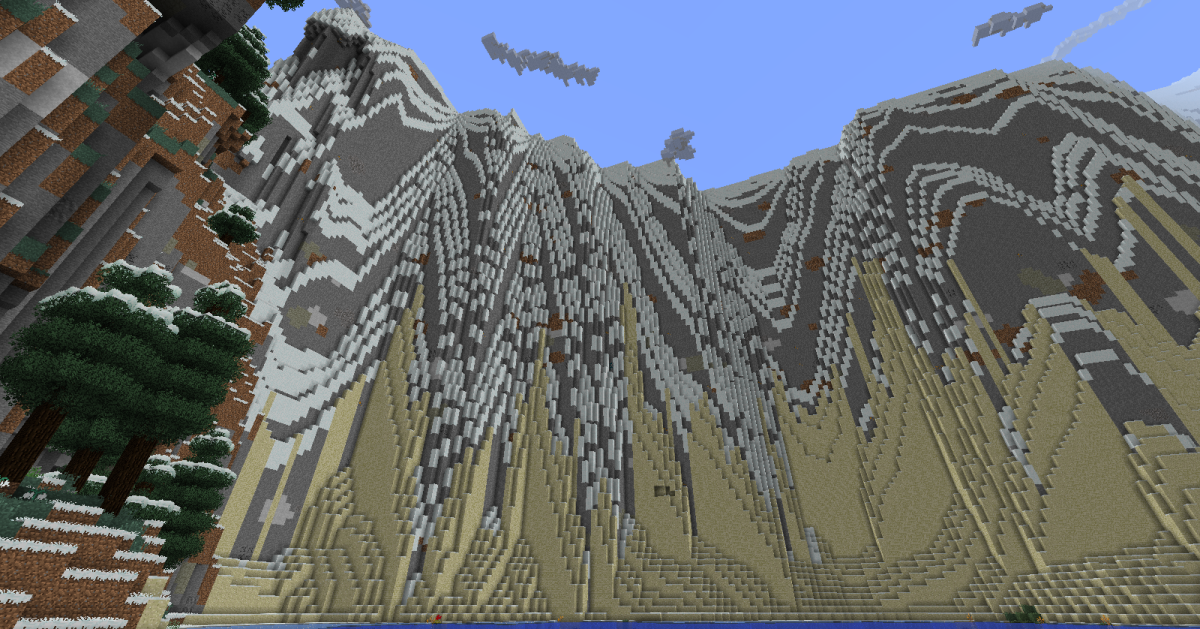 Alps are absolutely massive and one of the cooler types of terrain... but they can also somehow pull sand from a nearby beach halfway up their sides.