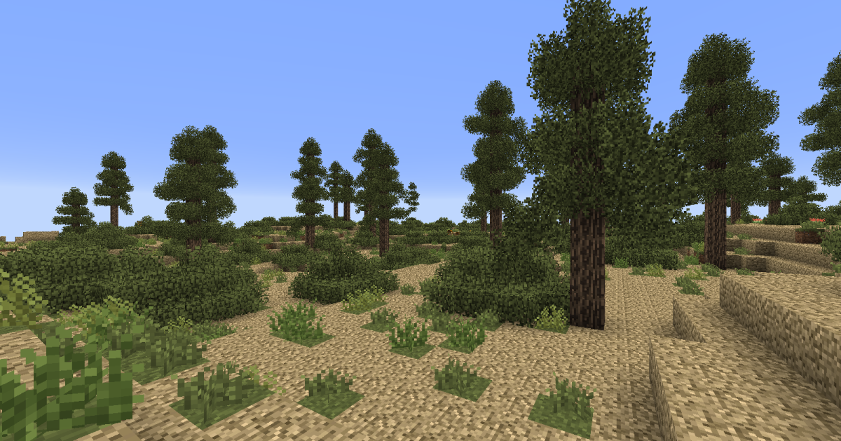 The new biomes are often much more than just repainted grass, they can often come with new terrain blocks, tree types, and sometimes even brand new animals.
