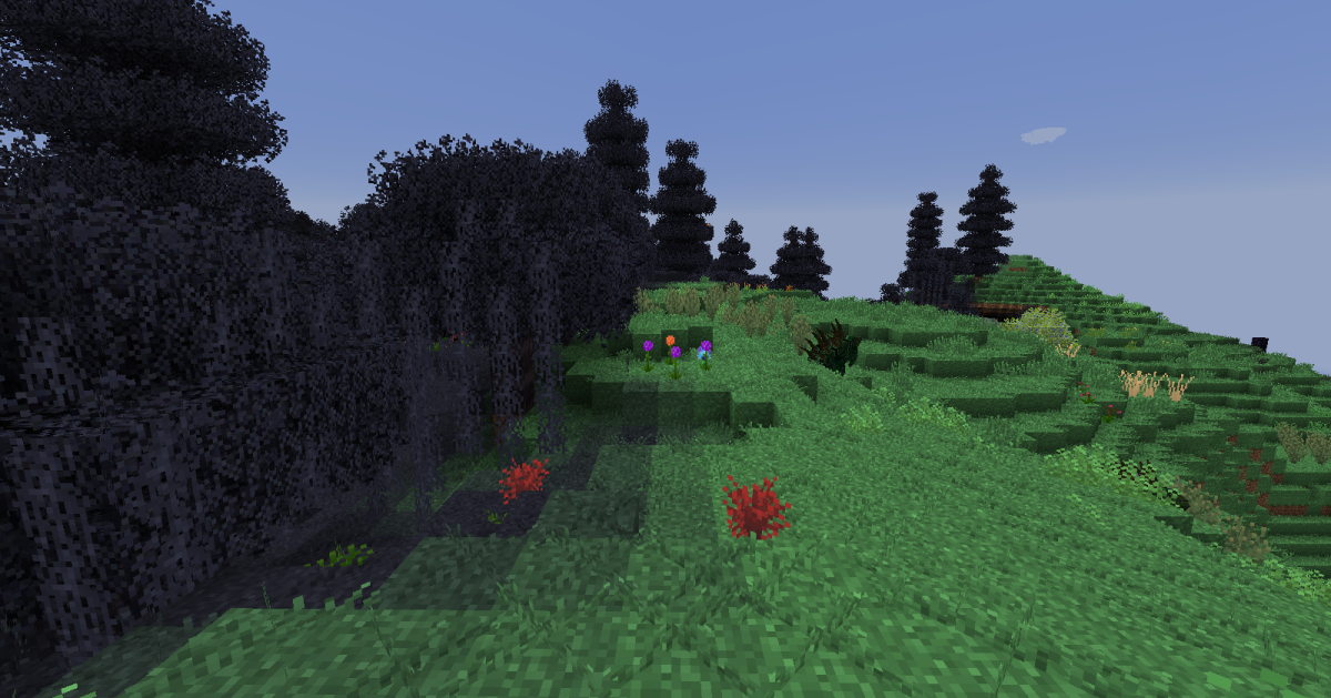 There is a little fuzzing between biomes, but it does not stop some of the areas where the game swaps between zones from being highly noticeable.