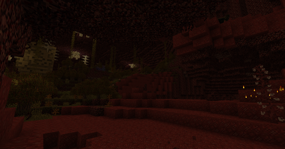 Biomes O' Plenty's Nether upgrades are possibly the best part of the mod, and really help make this horrible place shine.
