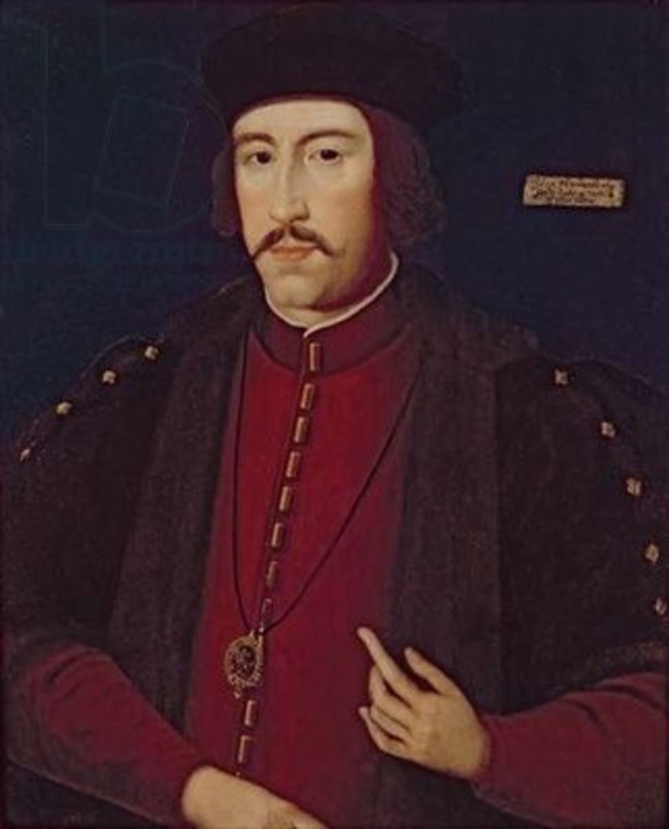 John Howard, 1st Duke of Norfolk with genetic blepharoptosis