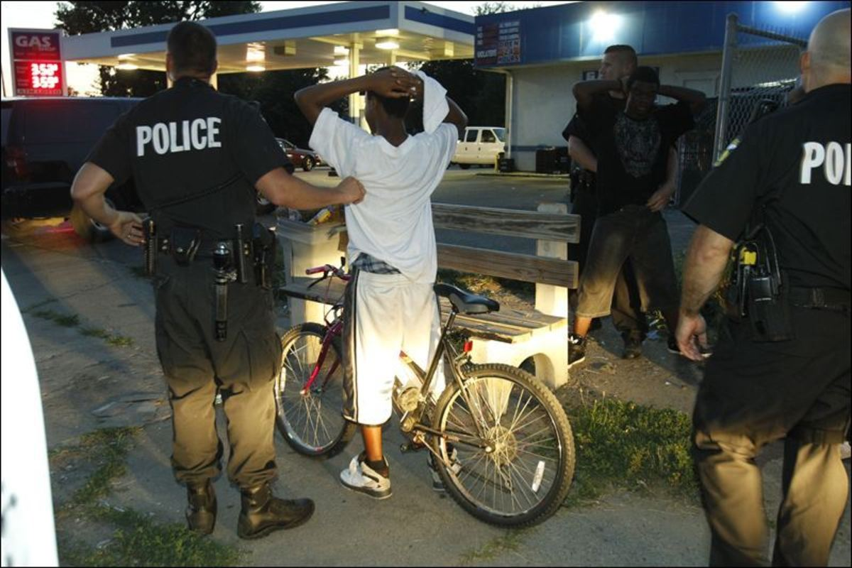 Both African-Americans and white people as well as other races are often stopped by the police to find out what they are doing.