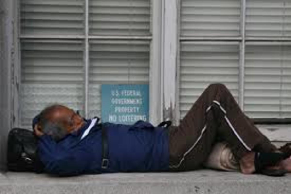Are the homeless loitering or loafing?