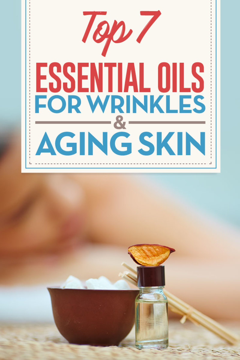 Use essential oils to reduce age spots and  diminish wrinkles on the face and around the eyes.