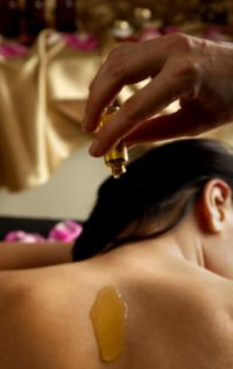 Massage the skin with essential oils and enjoy the experience!