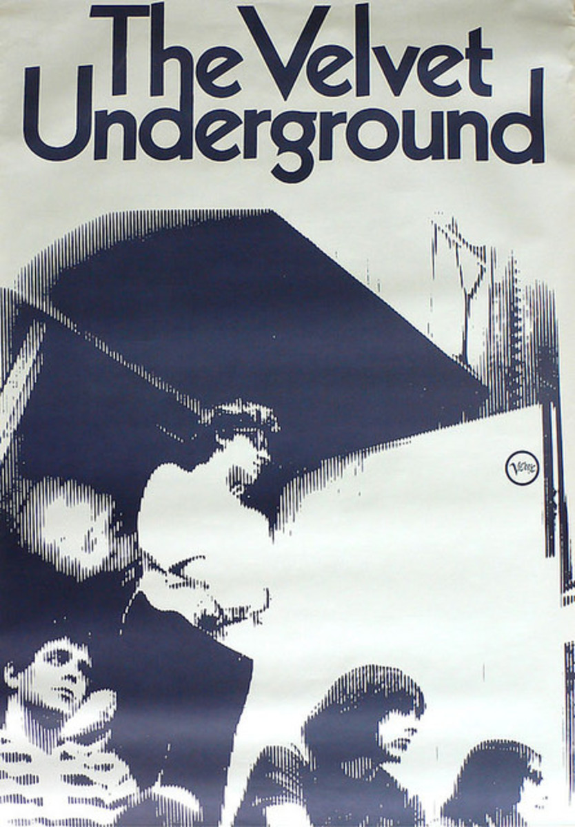 "Velvet Underground ""White Light/White Heat"" Record Store Promo Poster (1968)"