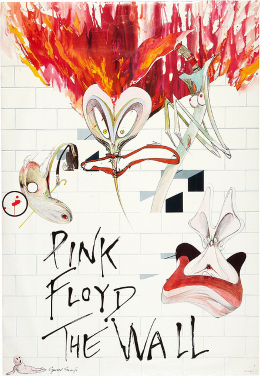 "Pink Floyd ""The Wall"" Columbia Records  PC2 36183 In-Store Promotional Poster 1980"