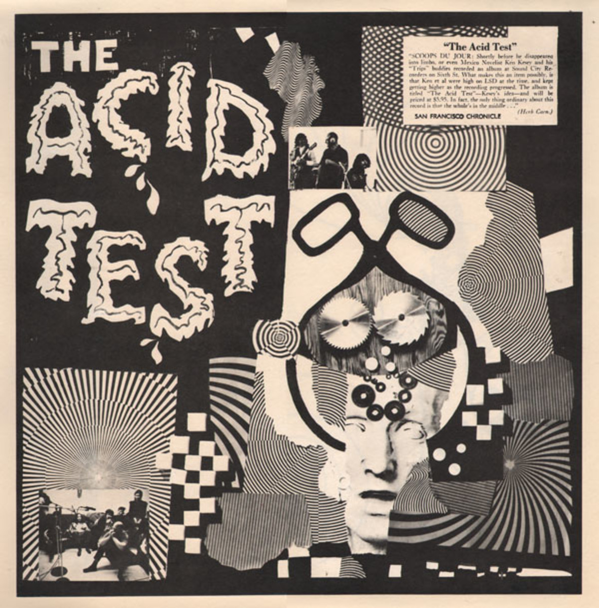"The Grateful Dead, Ken Kesey ""The Acid Test"" 1966 Record Store Promotional Poster"