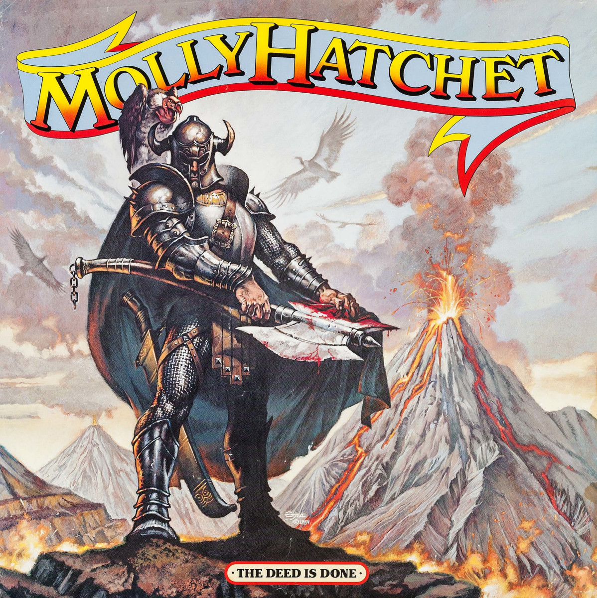 "Molly Hatchet ""The Deed is Done"" Epic Records (1984) Record Store Promotional Poster 36"" x 36"""