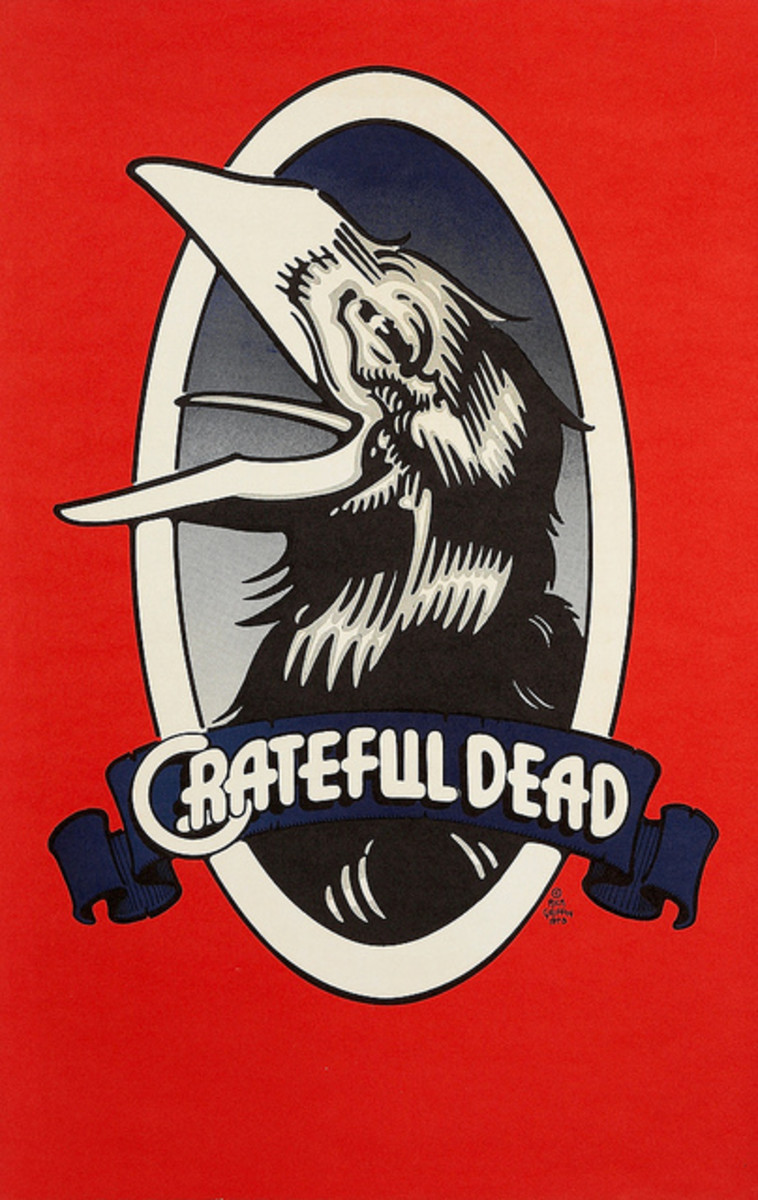 "Grateful Dead Records ""The Raven"" Record Store Promo Poster by Rick Griffin (1973)"
