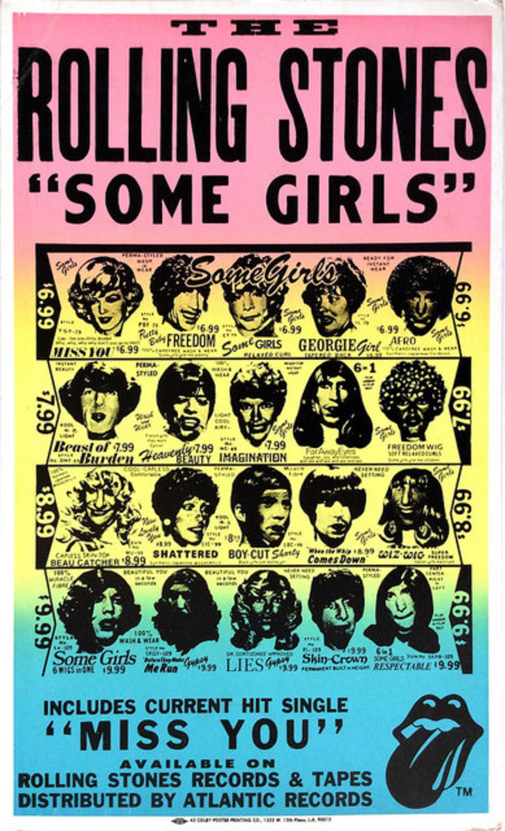 "The Rolling Stones ""Some Girls"" Atlantic Records Promotional Poster Display (1979) Boxing Style Poster"