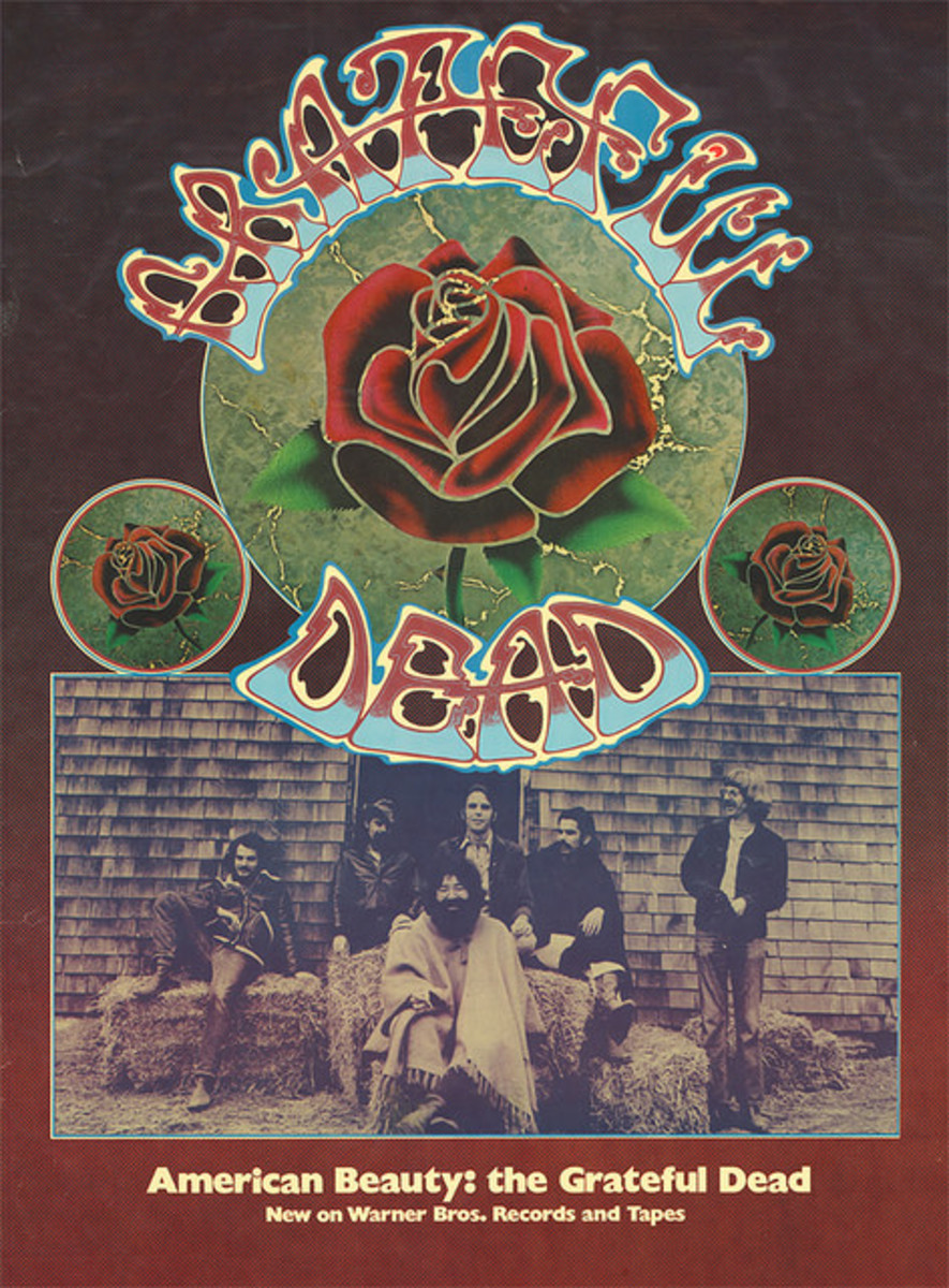 "The Grateful Dead ""American Beauty"" WS 1893 Warner Brothers Records & Tapes In-Store Promotional Poster (1970)"