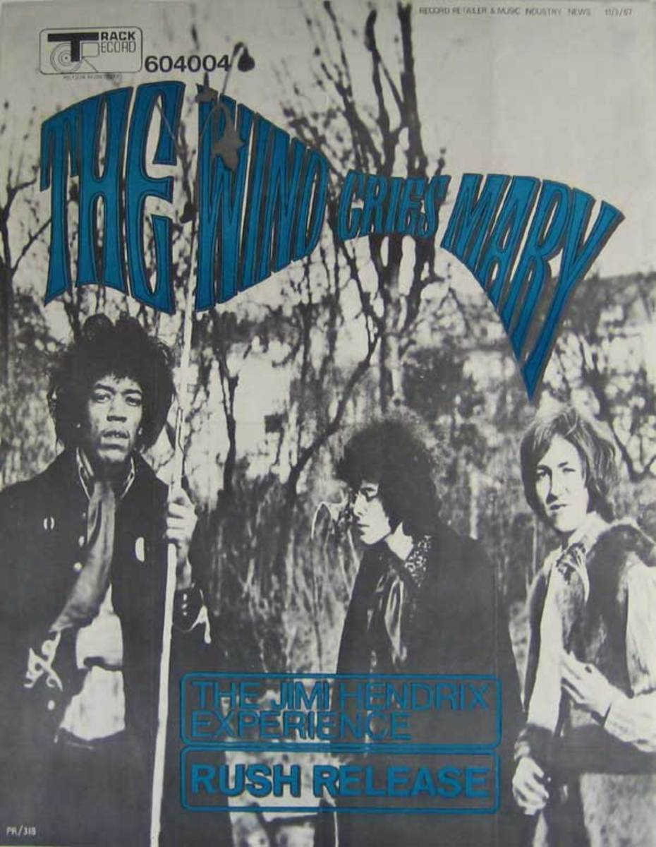 Jimi Hendrix Experience Track Records Promo Poster (1967)