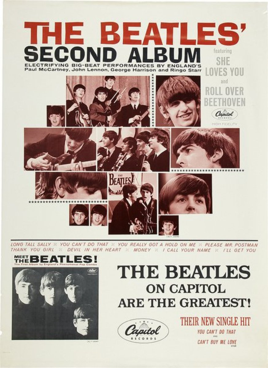 "The Beatles ""The Beatles' Second Album"" T 2080  Capitol Records In-Store Promotional Poster (1964)."