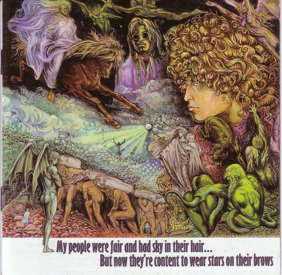 """Tyrannosaurus Rex """"My People Were Fair And Had Sky In Their Hair... """" Regal Zonophone Records SLRZ 1003 12"""" LP Vinyl Record, UK Pressing (1968)"""